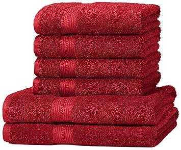 AmazonBasics - Set di 2 asciugamani da bagno e 4 asciugamani per ...