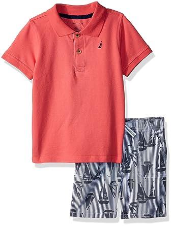 bf8295f74 Nautica Baby Boys Polo with Shorts: Amazon.co.uk: Clothing