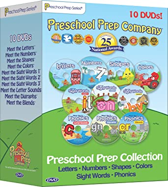 Amazon.com: Preschool Prep Series Collection - 10 DVD Boxed Set ...