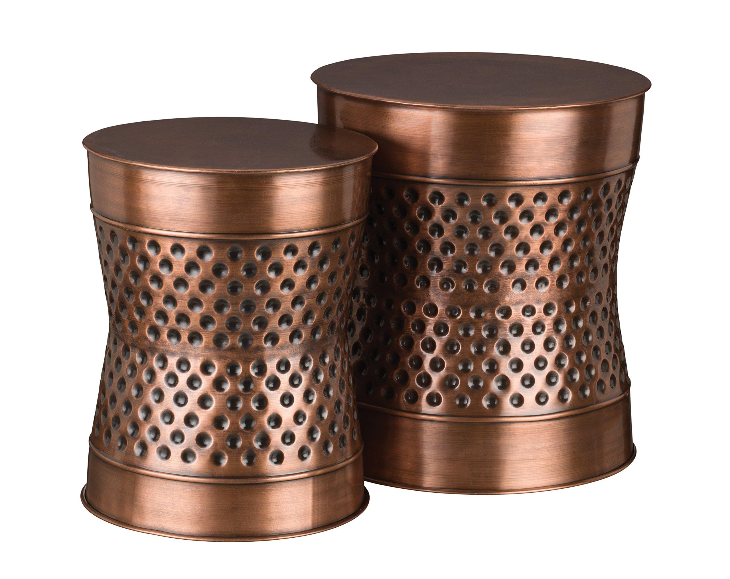 Regal Art & Gift Dotted Garden Stool (Set of 2), Copper