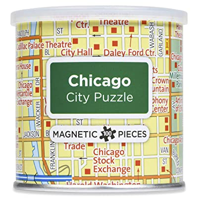 Geotoys City Magnetic Puzzle Chicago: Toys & Games