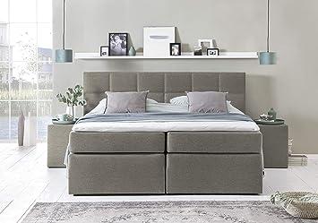 Möbelfreude® Boxspringbett Bea Beige/grau 160x220 Cm H2 Inkl. Lieferung Ins  Schlafzimmer U0026