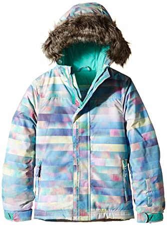 ONeill Pg Radiant, Chaqueta de esquí para niña, Multicolor (Blue Aop