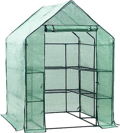 D4p Display4top Serre De Jardin Pe Plastique Tente Abri 143 X 143 X 195 Cm Amazon Fr Jardin