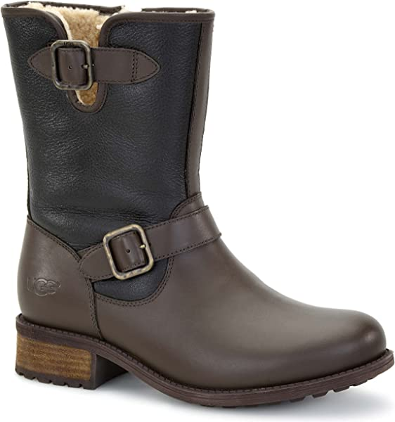 df286209a8 UGG Women s Chaney Brown Twinface Leather Boot 12 B (M)  Amazon.co.uk   Shoes   Bags