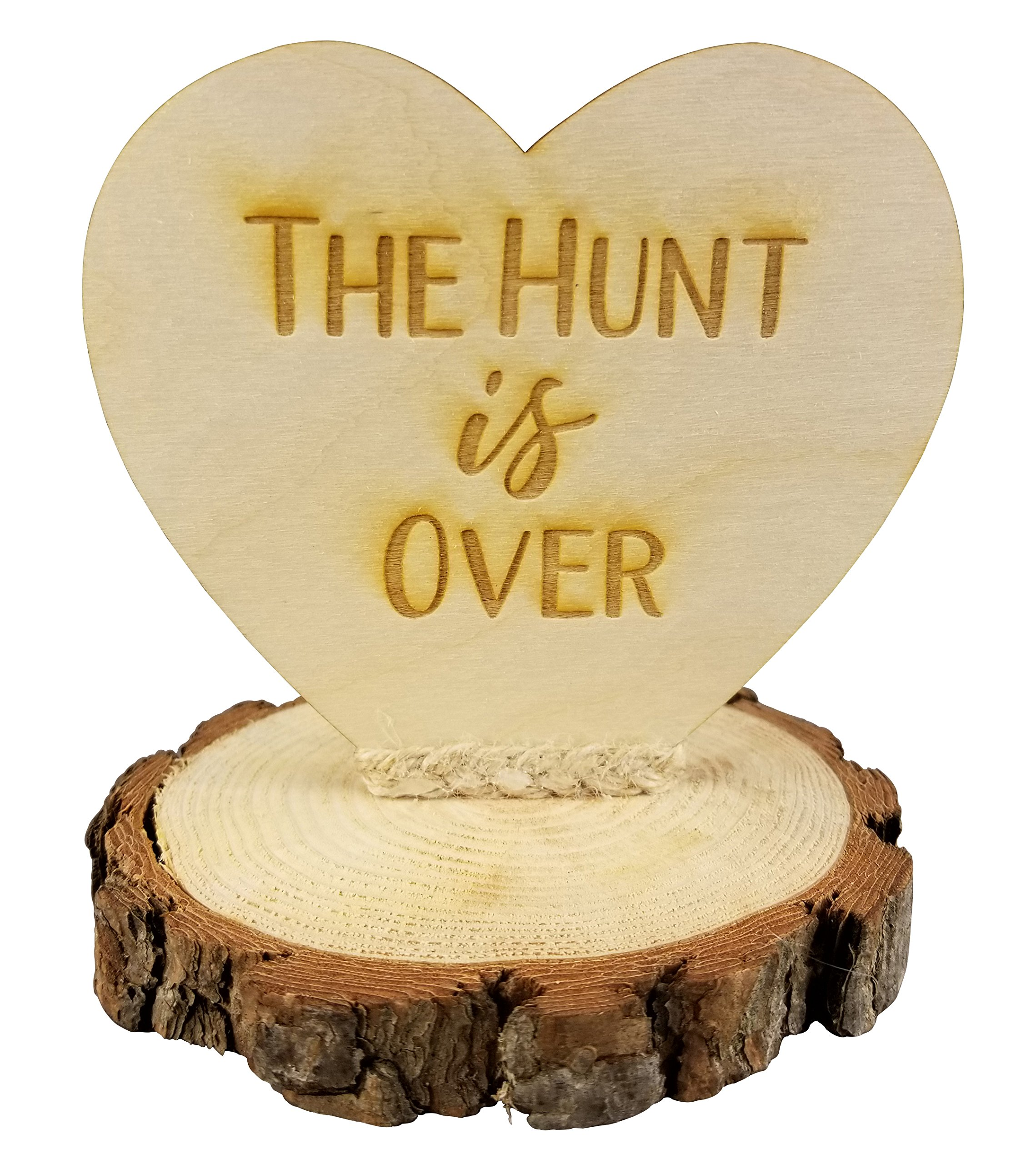 The Hunt is Over Rustic Wedding Cake Topper
