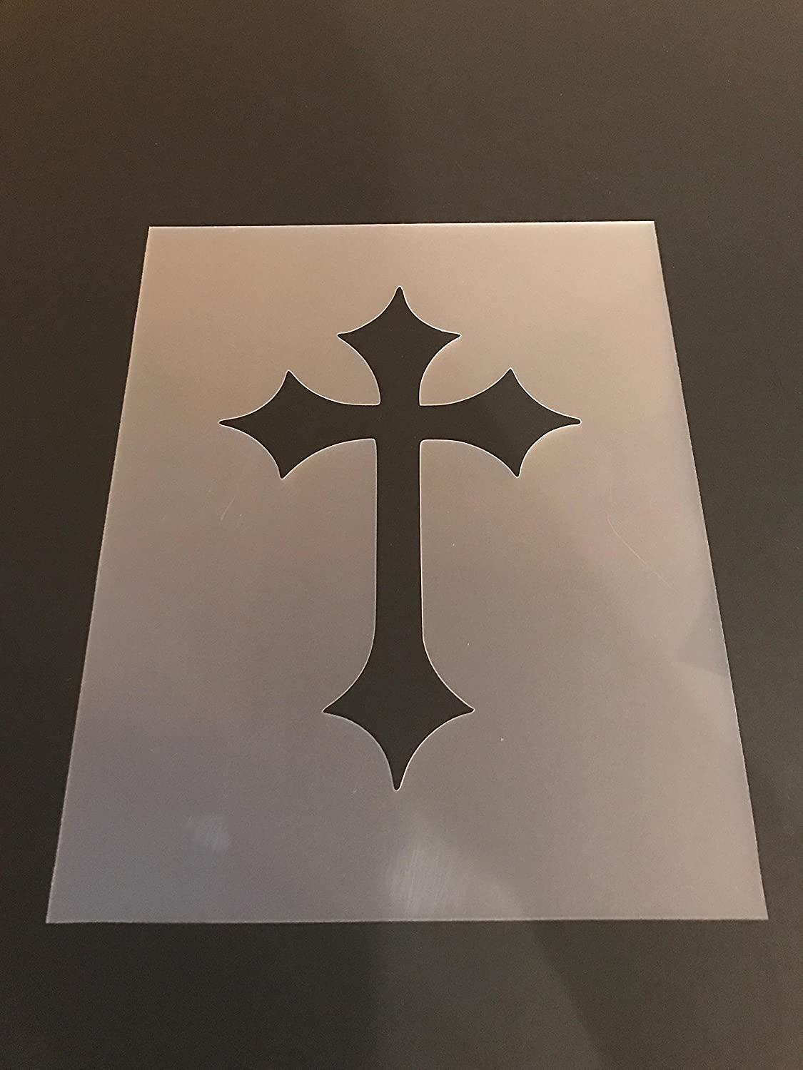 Cross Stencil #5 Reusable 10 mil Thick 7in x 9in sheet