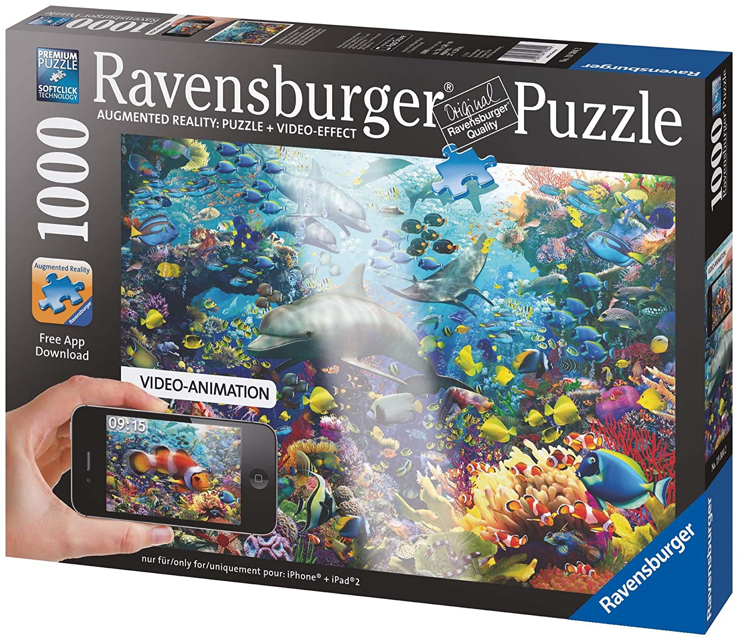 Ravensburger Underwater, 1000-Pieces Augmented Reality Puzzle
