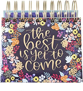 "bloom daily planners Undated Perpetual Desk Easel/Inspirational Standing Flip Calendar - (5.25"" x 5.5"") (The Best is Yet to Come)"