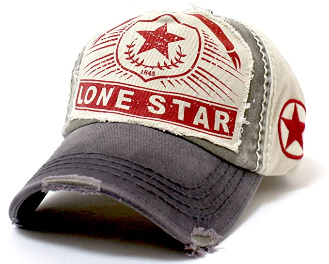 Olive Khaki Lone Star Patch Embroidery Vintage Ballcap at Amazon ... ce7a763438b6