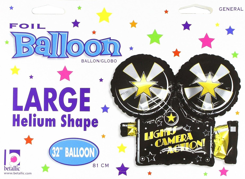 Betallic 85373P 32 PKG Lights Action Camera Shape Balloon