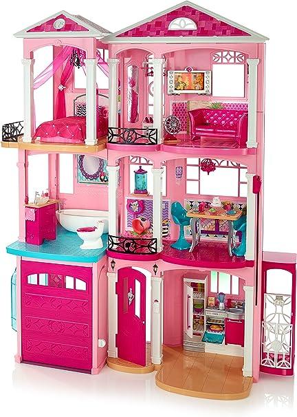 Amazon Com Barbie Dreamhouse Amazon Exclusive Pink Toys Games