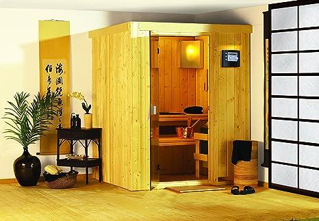 Karibu Sauna Plug Minja & juega sin estufa - sin soffit-