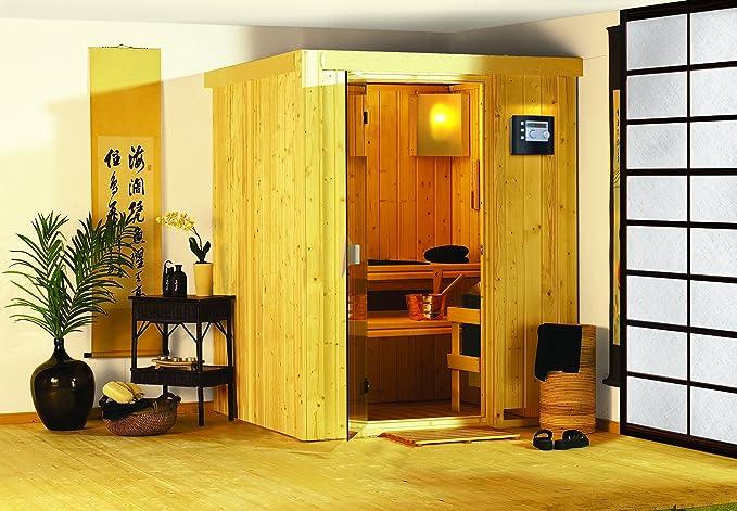 - Karibu Sauna Plug Minja & juega sin estufa - sin soffit-: Amazon.es: Bricolaje y herramientas