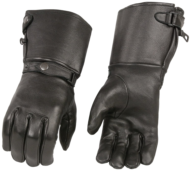 Motorcycle gloves deerskin - Amazon Com Shaf International Men S Long Cuff Deer Skin Gloves Black Large Automotive