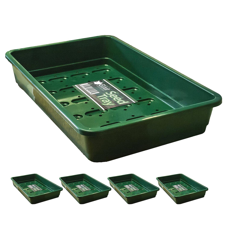 Garland - Bandejas de plástico para semillas, tamaño estándar, G17G, color verde, 5 unidades: Amazon.es: Hogar