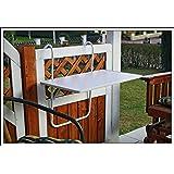 Mesa de balcón plegable,resistente a la intemperie, blanca