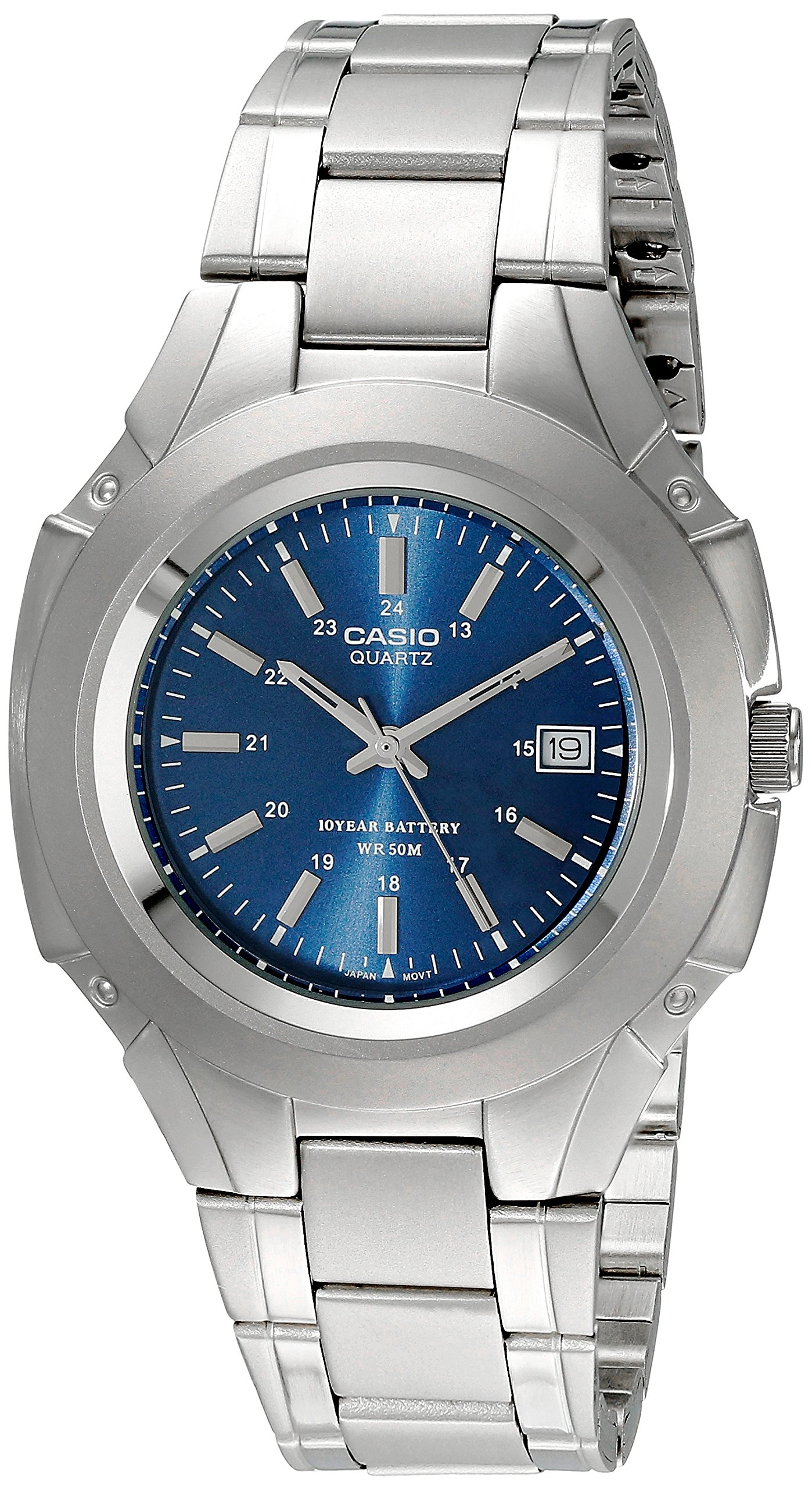 Casio Men's Mtp3050D-2Av Classic 10-Year Battery Stainless Steel Dress Watch 6