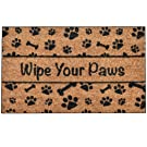 Ninamar Door Mat Wipe Your Paws Natural Coir – 29.5 x 17.5 inch