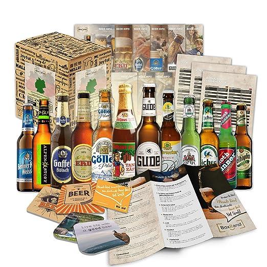 12 especialidades de cervezas de Alemania (Las mejores cervezas alemanas) como un paquete de probar para regalar en caja de regalo 12 x 0,33l / regalo ...