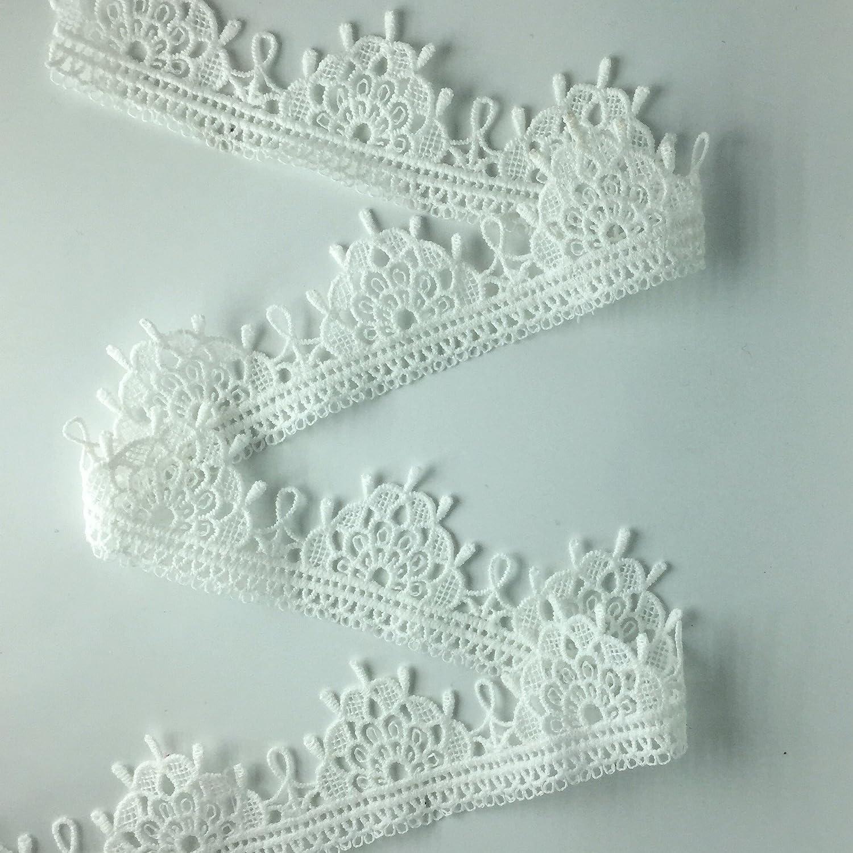 "ELLA MAMA Lace Trim DIY Craft Ribbon 1-5//8/"" x 5yds Sewing Applique craft Wedding Decoration Gift Wrapping Ribbon Tape"