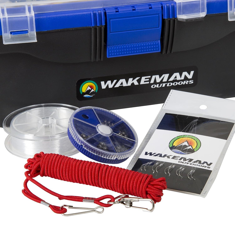 Wakeman P/êche Unique Plateau Bo/îte daccessoires 55/PC Tackle Kit