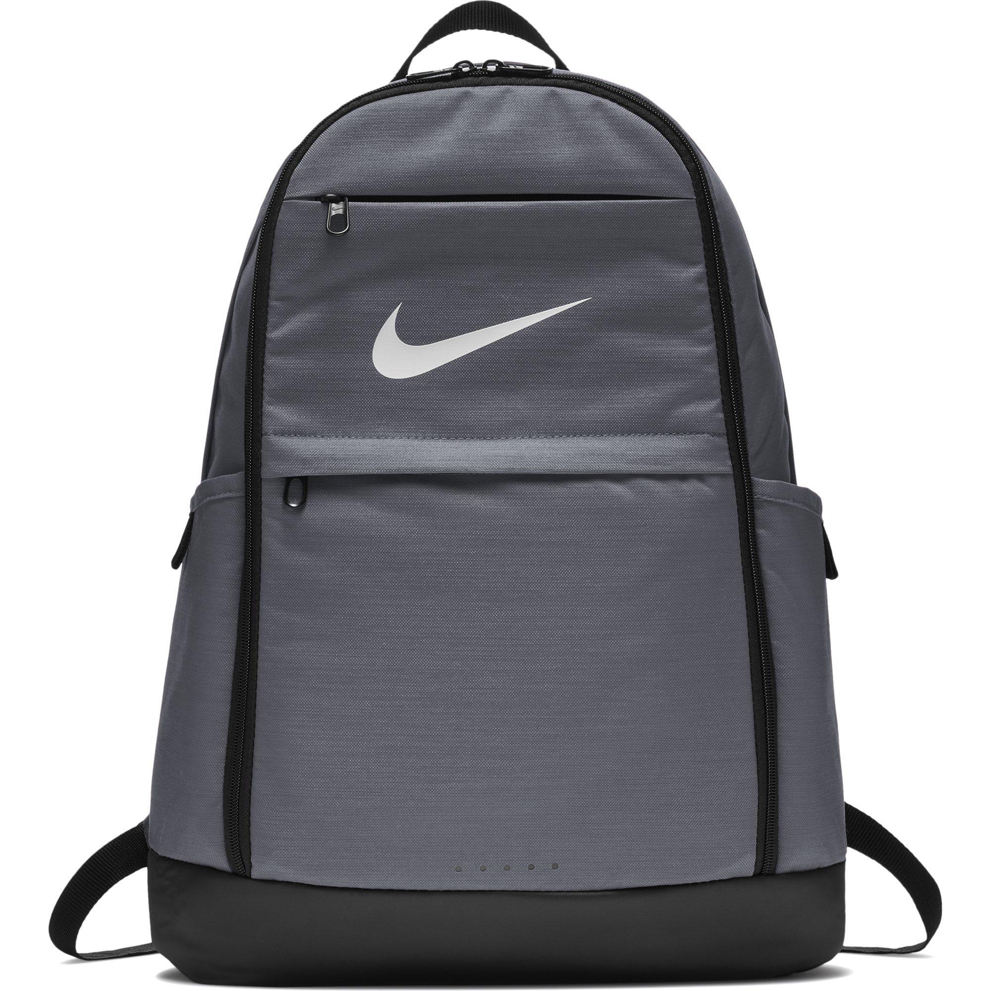 NIKE Brasilia Backpack, Flint Grey/Black/White, X-Large