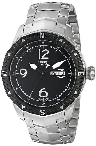 Tissot T0624301105700 - Reloj de cuarzo de hombre (acero inoxidable, esfera de color negro