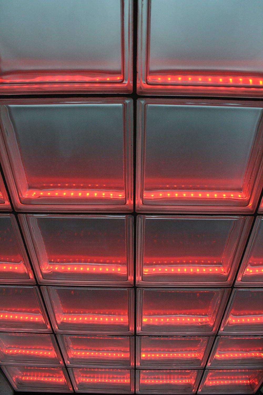 Light My Wall Duschabtrennung aus Glasbausteinen mit integrierter ... | {Glasbausteine duschwand 90}