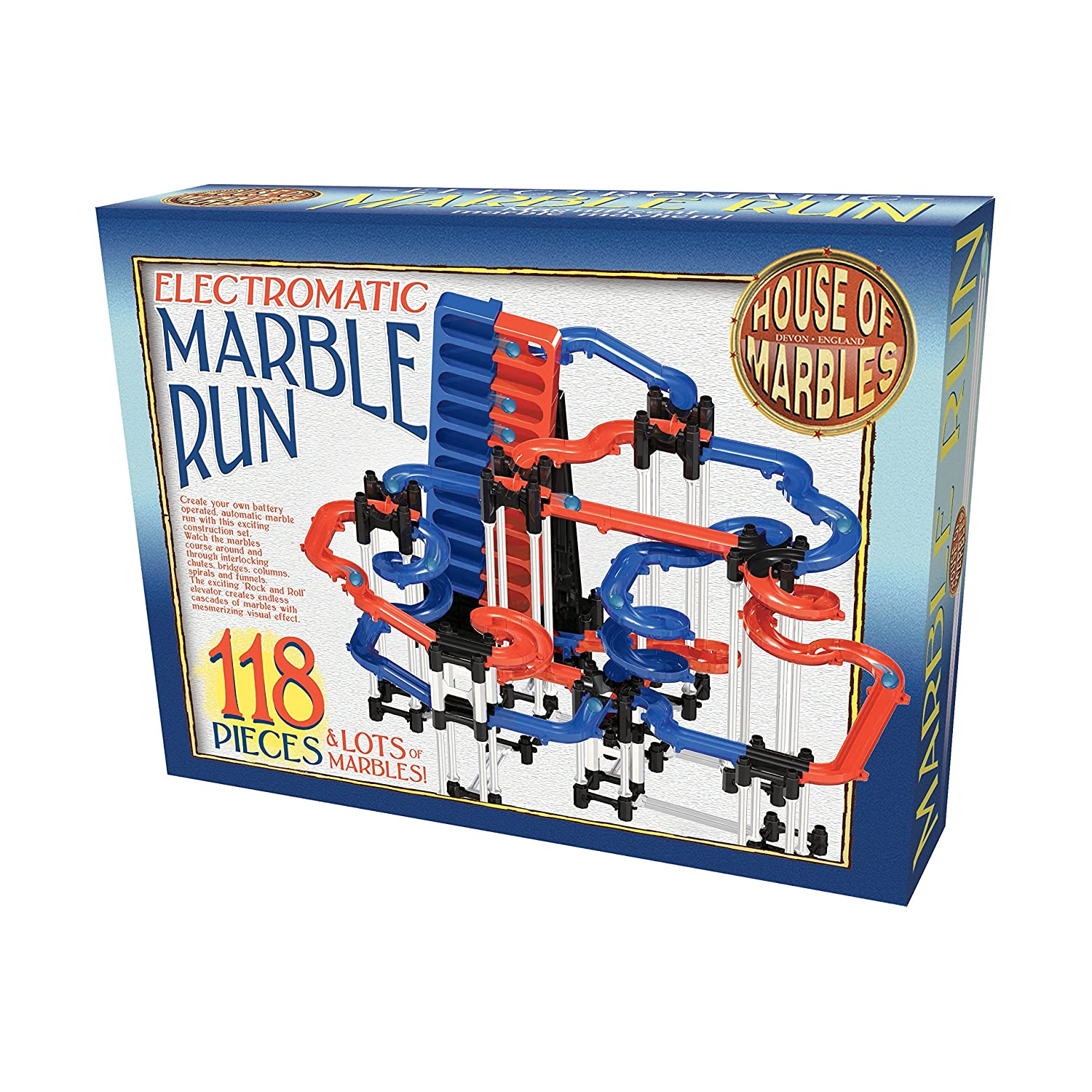 118 Piece Electromatic Marble Run - House of Marbles - Battery Operated Automatic