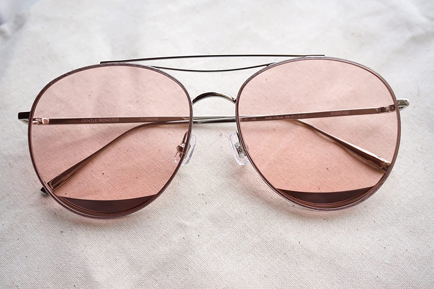 408324b3280 Amazon.com  Gentle Monster Sunglasses Odd Odd Silver Frame Pink Lenses With  Origianl Package Sets  Everything Else