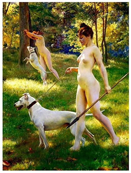 Hunting naked women