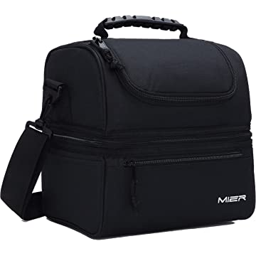 cheap MIER Adult Lunch Box Insulated Lunch Bag Large Cooler Tote Bag for Men 2020