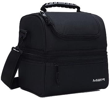 Amazon.com: Lonchera azul para adultos, bolsa aislada para ...