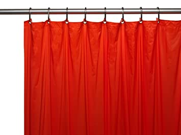 Carnation Home Fashions 3 Gauge Vinyl Shower Curtain Liner With Metal Grommets Red