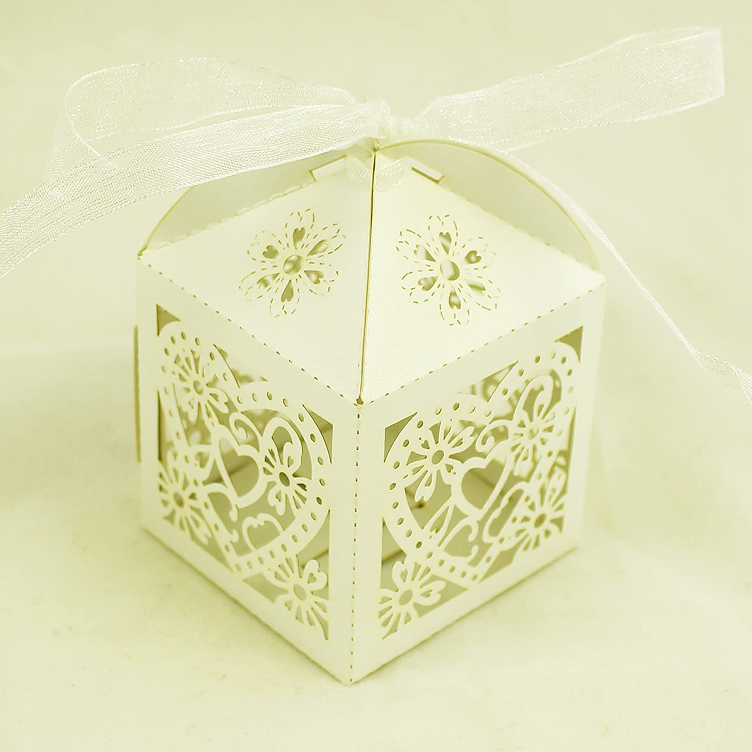 Wedding Favour Boxes Ivory, Love Heart, Sweets, Candy, Bomboniere ...