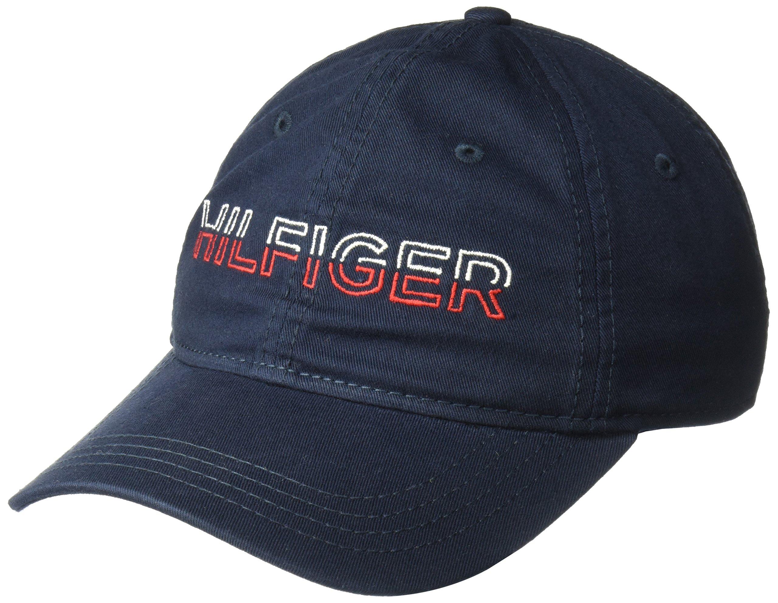 Tommy Hilfiger Men's Dad Hat Matthew Cap, Navy Blazer, O/S