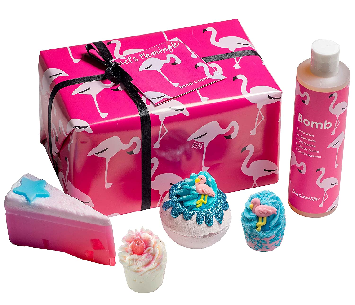 1009abbe388 Bomb Cosmetics Let's Flamingle Handmade Wrapped Gift Pack: Amazon.co.uk:  Beauty
