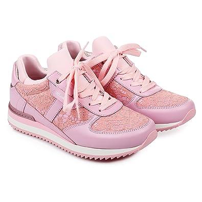 0a880eb9da Amazon.com: Dolce & Gabbana Women's Fashion Sneakers Pink (6 B(M) US ...