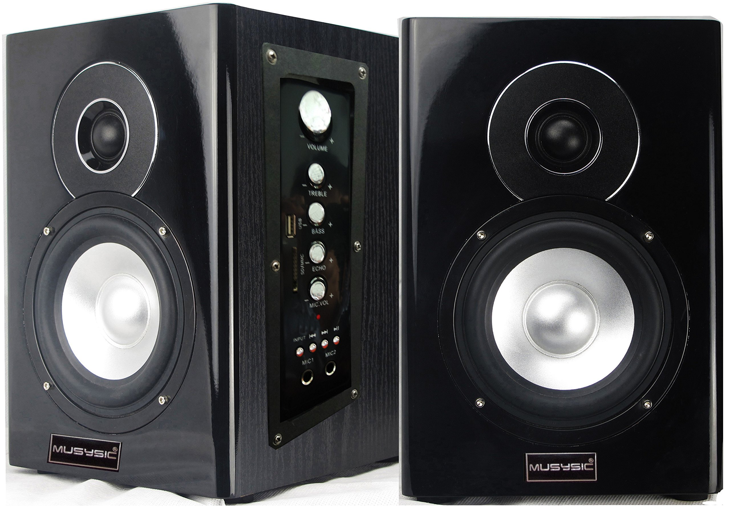 Professional 400 Watts Active/Powered Studio Monitor Speakers Bluetooth/USB/SD/FM Radio by MUSYSIC