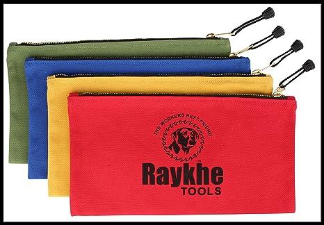 Amazon.com: Bolsas de herramientas de lona con cierre 12.5 ...
