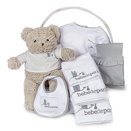 Canastilla bebé SPA Bebe Esencial - cesta regalo recién nacido-Complementos imprescindibles para el baño del bebé