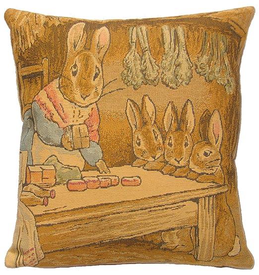 Madre de conejo Beatrix Potter relleno de plumas cojín ...