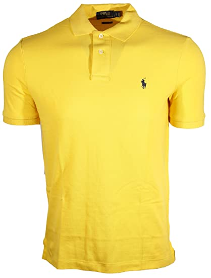 a759742e9 ... cheap polo ralph lauren mens classic fit mesh polo shirt small deep  yellow a16de 54e86