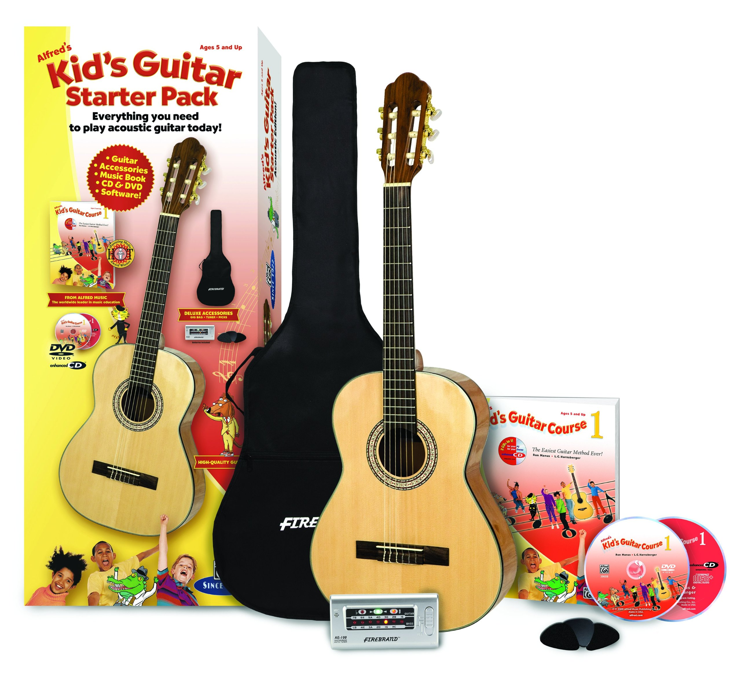 Alfred's Kid's Guitar Course, Complete Starter Pack: Everything You Need to Play Today! by Alfred Music Publishing (Image #1)