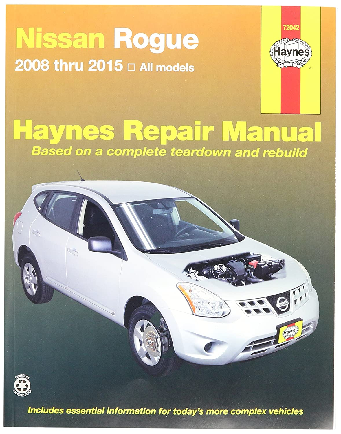 Amazon.com: Haynes Repair Manuals Nissan Rogue, '08-'15 (72042): John  Haynes: Automotive