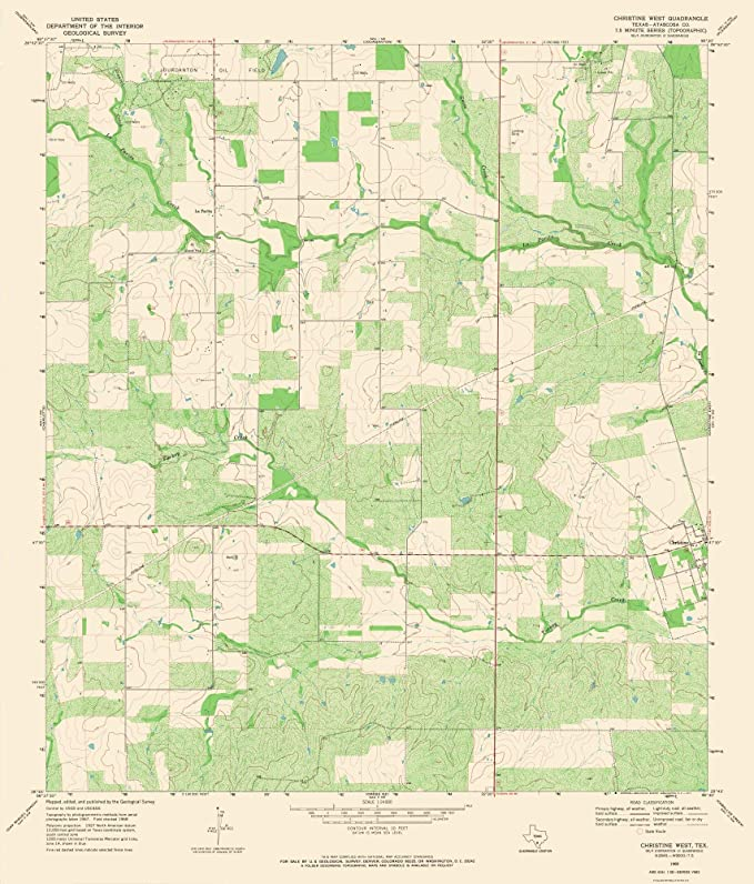 Amazon Com Maps Of The Past Christine West Texas Quad Usgs 1968