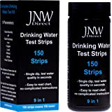JNW Direct Drinking Water Test Strips 9 in 1, Best Kit for Accurate Water Quality Testing at Home, 150 Strips MEGA PACK, Easy to Read & Instant Results (Packaging May Vary)