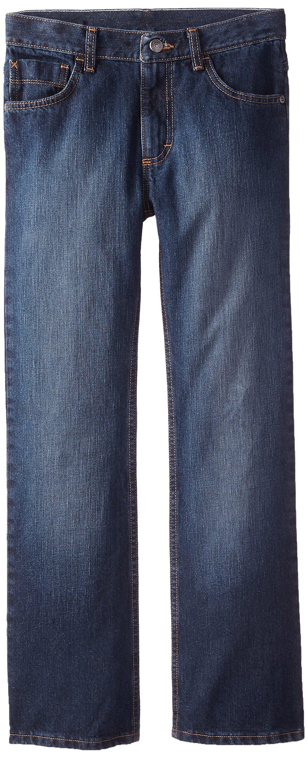 Wrangler Big Boys' Authentics Boot Cut Jeans, Fresh Indigo, 10