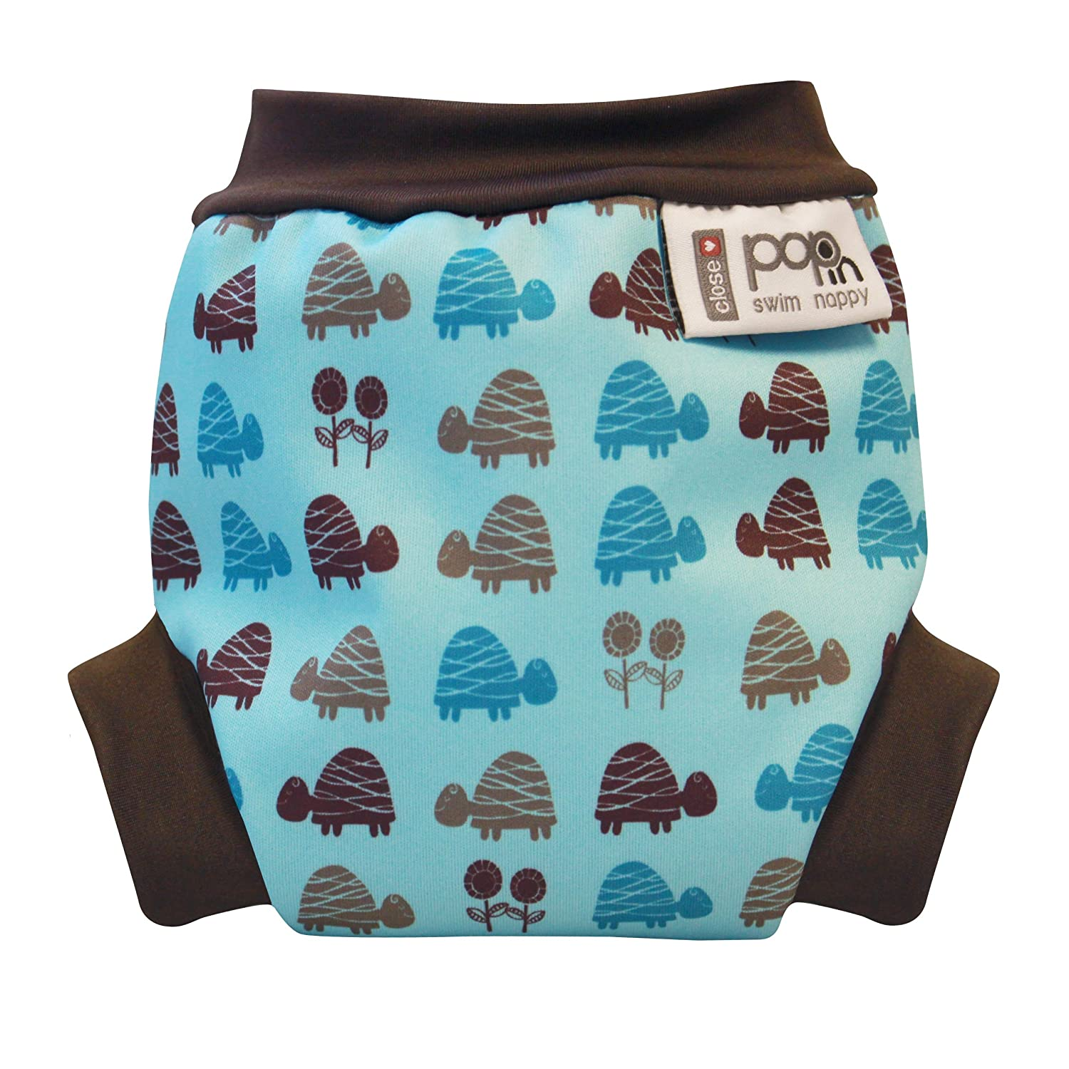 Cerrar Pop-in - Custom-panal del bebe, tamano S (3 kg o mas), ¿por que las tortugas, color: azul Close Baby Carrier 545635